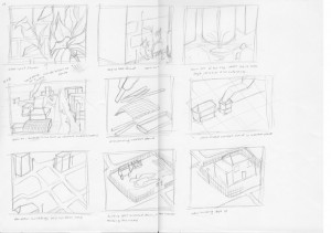 Initial sketches to finished images