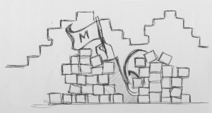 A quick doodle of my fortress!