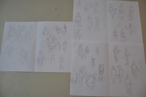 It was challenging but I managed to make a few sketches, I'll try to do better on my next outing.
