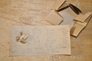 Storyboard for the simple folding paper animation