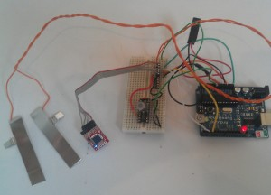 Arduino, openlog and TGS2620 gas sensor setup with GSR electrodes
