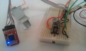 TGS2620 gas sensor and openlog logger module