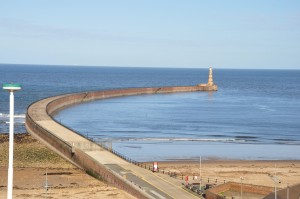 View from our hotel in Roker