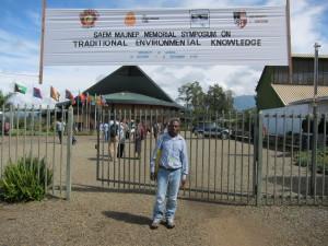 Porer Nombo at University of Goroka [photo: J. Leach]