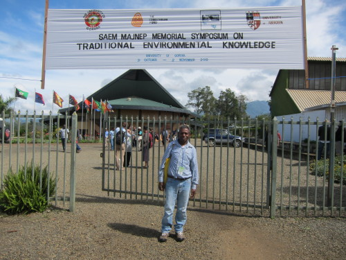 Porer Nombo at University of Goroka [photo: J. Leach]