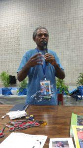 Porer speaking at IUCN